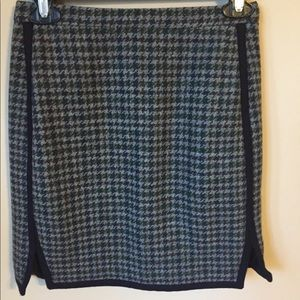 NWT J. Crew skirt size 00 wool brown dry clean